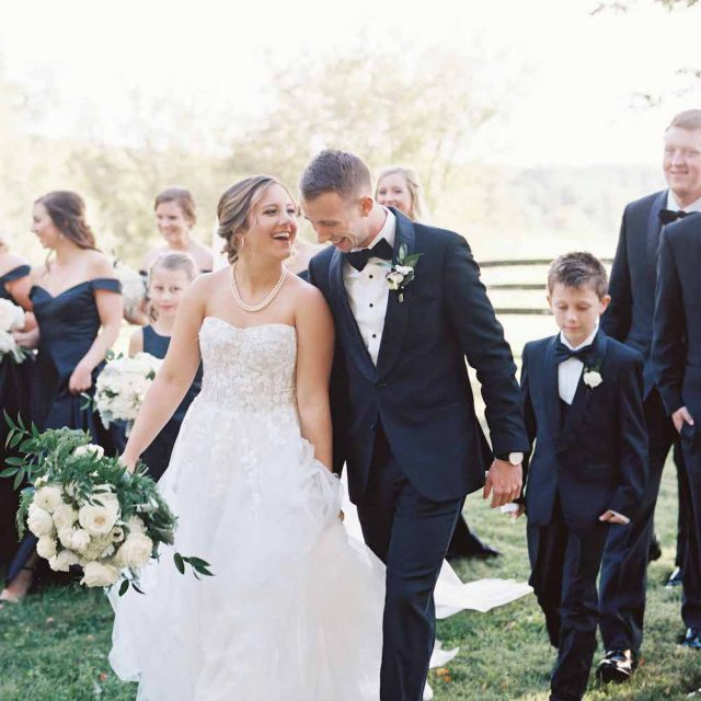 K Bella Events Couple smiling on their wedding day at Goodstone Inn